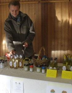 Our products at one local market.